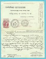 Entier ANTWOORD-kaart (carte-reponse) Stempel BRUSSEL Met ANTWOORD Stempel ISLES Les MELDFUSSES (France) - 1905 Grosse Barbe