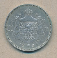 België/Belgique 20 Fr Albert1 1934 Fr Pos B Morin 307b (120333) - 11. 20 Francs & 4 Belgas