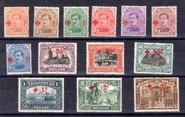Belgique 1918, Croix-Rouge, Série Courte, 150 / 162*, Cote 570 €, - 1918 Rode Kruis