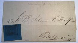 "1871 3c Azul Oscuro  ""Saladas 21 Agosto 1873"" KNEITSCHEL =LATEST RECORDED COVER ! (Corrientes Argentina Argentine Lettre - Corrientes (1856-1880)"
