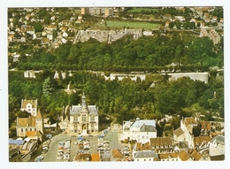 CP CHATEAU THIERRY AISNE ( 02 ) - VUE AÉRIENNE HOTEL De VILLE REMPARTS CHATEAU - CARTE NEUVE - Chateau Thierry