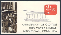 USA 1980 Cover Brief - Ann. Old Time USPS Midpex Station, Middletown - United States Postal Service - Treinen