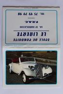 Petit Calendrier 1991 Offert Par Ecole De Conduite Le Liberte F R A C  4 Volets 11CV CITROEN CABRIOLET - Calendriers
