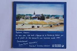 Petit Calendrier 1991 Offert Par La Maison De Valerie Santenay - Calendriers