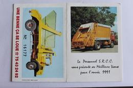 Petit Calendrier 1991 Offert Par  S.R.C.C VALENCE - Calendriers