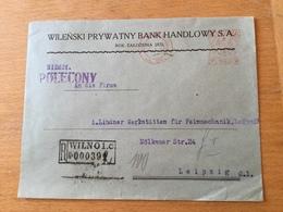 FL3566 Polen 1931 R-Brief Mit Afs Von Vilno Vilnius Nach Leipzig - Covers & Documents