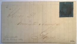 "1860 3c Azul Claro  ""Corrientes Enero 25 1864"" KNEITSCHEL=LATEST RECORDED COVER ! (Scheller Argentina Argentine Lettre - Corrientes (1856-1880)"