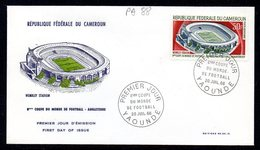 CAMEROUN A 088/89 Fdc Mondial Football England, Wembley Stadium - 1966 – Inglaterra