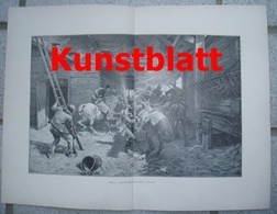 1817 Jos. Von Brandt Alarm Überfall Kosaken Kunstblatt 1897 !! - Estampes