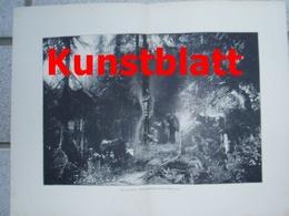 1818 Paul Meyerheim Abendandacht Im Wald Kunstblatt 1897 !! - Estampes