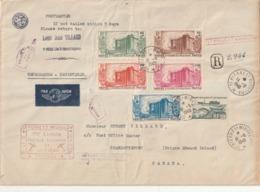 Saint Pierre Série Revolution 191/195 Sur Grande Lettre Recommandée Pour Le Canada - Brieven En Documenten