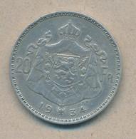 België/Belgique 20 Fr Albert1 1934 Vl Pos B Morin 308b (120337) - 11. 20 Francos & 4 Belgas