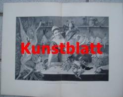 1819 Alois Eckardt Geflügelhändlerin Marktfrau Kunstblatt 1897 !! - Estampes