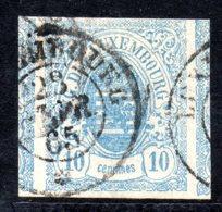 Luxembourg Classique, N°6, Oblitéré, Avec 2 Grands Voisins - 1859-1880 Armoiries