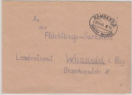 All.Bes. - Gebühr Bezahlt, Ovaler Tagesstpl. A. Brief Bamberg 3 - Wunsiedel - Allemagne