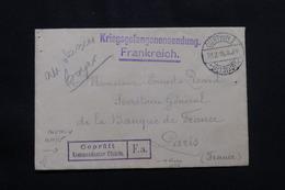 FRANCE - Enveloppe De Prisonnier De Guerre En Allemagne Pour La France En 1915 - L 57133 - Guerre De 1914-18