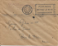 NORD 59 -  LILLE R.P. -   FLAMME N° LIL 266P F - POUR PARIS METTEZ LE N° DE L'ARRONDISSEMENT  - PORT PAYE - 1950 - Sellados Mecánicos (Publicitario)