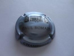 CAPSULE DE CHAMPAGNE  - PAUL ROMAIN  -  N°  15c  Gris Argenté Et Noir - Champagne