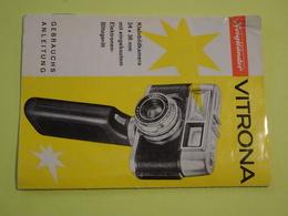 Notice Technique Appareil Photo 24 X 36 Mm Voigtlander Vitrona. Notice En Allemand. Gebrauchs Anleitung - Allemagne