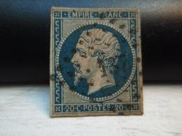 TIMBRE Napoléon III Empire Franc 20 C Non Dentelé. N° 14.  N° 137 - 1853-1860 Napoleon III