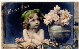 CPA  - Fillette Avev Bouquet De Fleurs   - écrite - Ritratti