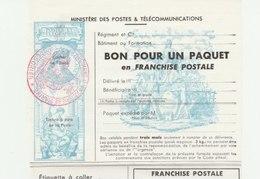 LOT FRANCE ** LUXE FRANCHISE MILITAIRE AVEC CACHET DU 24EME REGIMENT D INFANTERIE DE MARINE PERPIGNAN COTE 10.00 EUROS - Franchise Militaire (timbres)