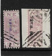 NEVIS 1883 SET SG 35/36 FINE USED Cat £105 - St.Christopher-Nevis-Anguilla (...-1980)