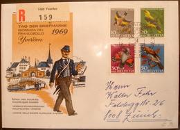 Schweiz Suisse Pro Juventute 1969: Zu 228-231 Mi 914-917 Yv 846-849 Mit O YVERDON 7.12.1969 JOURNÉE DU TIMBRE - Tag Der Briefmarke