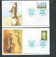 FDC UNESCO Ile De Paques Et Pompéi - FDC