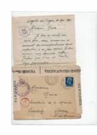 CTN60/4- ITALIE LETTRE AVEC CONTENU COGOLLO / AVON 21/5/1941 CENSURE - Marcophilie