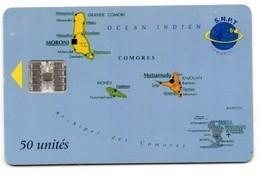 COMORES REF TELECARTE MV CARDS COM-24a 50U INDIAN OCEAN BIG S.N.P.T.-Comores - Comoren