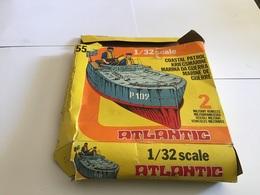 Boîte De Jouets Vide Atlantic  Bateau 1/32 Scale  Marine De Guerre Militaria Véhicules Militaire En L'état - Toy Memorabilia
