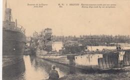 1914-18 / OORLOG / GUERRE / BRUGGE /  DUITSE BOTEN GEZONKEN DOOR GEALLIEERDE VLIEGTUIGEN - War 1914-18