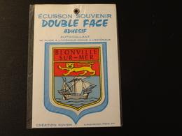 Blason écusson Adhésif Autocollant Bionville Sur Mer Double Face  Aufkleber Wappen Coat Arms Sticker Adesivo Adhesivo - Oggetti 'Ricordo Di'
