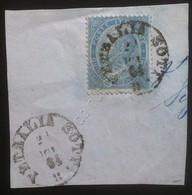 Italia Regno - De La Rue 15c Usato Su Frammento - Unif. 18 - Petralia Sottana - Ohne Zuordnung