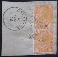 Italia Regno - Coppia De La Rue 10c Usati Su Frammento - Unif. 17 - Numerale - Ohne Zuordnung