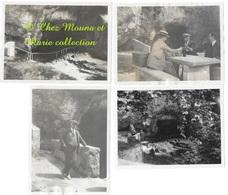 FONTAINE DE FONTESTORBES 1922 BELESTA - HOURNAT BEZARD BOUSSIOUX - LOT DE 4 - PHOTO 11.5*8.5 CM ARRIEGE - Lugares
