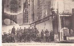 1914-18 / OORLOG / GUERRE /  VISE /  OFFICIERS ALLEMANDS DEVANT L EGLISE - Weltkrieg 1914-18