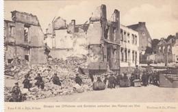 1914-18 / OORLOG / GUERRE /  VISE /  OFFICIERS ALLEMANDS ENTRE LES RUINES - Weltkrieg 1914-18