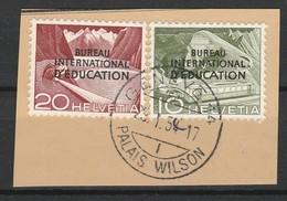 SUISSE SERVICE 1950 YT N° 328 Et 330 Obl. - Service