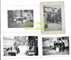 LE MERIDIONAL LE FRANCE RENAULT LOURMARIN 1961 CAMPING ISLE SUR LA SORGUE 1958 - LOT DE 4 PHOTOS - Automobili