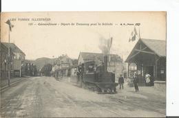 LES VOSGES ILLUSTREES : GERARDMER : Départ Du Tramway Pour La Schlucht - TRAIN - 737 - Gerardmer