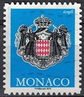 Monaco 2019 Oblitéré Used Coat Of Armes Ecopli Armoiries Blason SU - Gebraucht