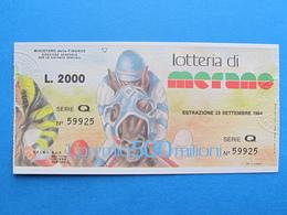 BIGLIETTO LOTTERIA MERANO 1984 - FDS - Biglietti Della Lotteria