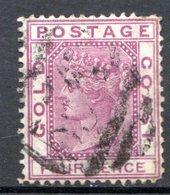 AFRIQUE - COTE DE L'OR - (Colonie Britannique) - 1876-79 - N° 7 - 4 P. Lilas - (Victoria) - Goldküste (...-1957)