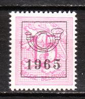 PRE761**  Chiffre Sur Lion Héraldique - 1965 - Bonne Valeur - MNH** - Vendu à 10% Du COB!!!! - Préoblitérés