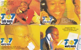 SERIE COMPLETA DE 4 TARJETAS DE NAMIBIA DE 7 TO 7 PAY LESS (TELEFONO) - Namibia