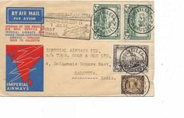SH 0409. PA 1-2-3(2)-TP 341 BRUXELLES 1 - 29.VI.1933 S/L. IMPERIAL AIRWAYS (LONDON)-BRUSSELS-CALCUTTA (Jen. A94) - Poste Aérienne
