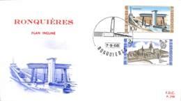 [903201]TB//-Belgique 1968 - 'RONQUIERES' Plan Incliné - FDC