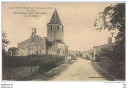 Cpa..33..PUYNORMAND Par ST SEURIN SUR L'ISLE..GIRONDE..SAINT SEURIN SUR L'ISLE..EGLISE SI HILAIRE Et La GRAND'RUE. - France